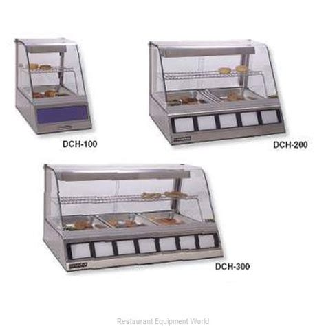 roundup dch 220 heated display cabinet countertop