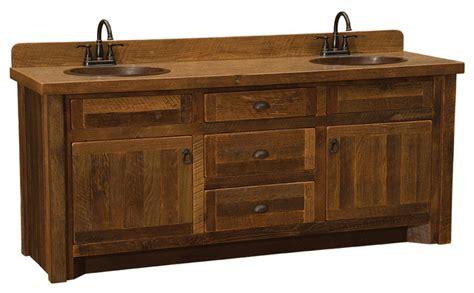 Barnwood Vanity 6 Without Top Double Sink Barnwood Bathroom Vanities With Legs