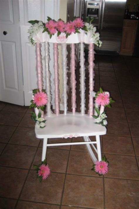 diy baby shower chair decorations baby shower decorated rocking chair my diy decor