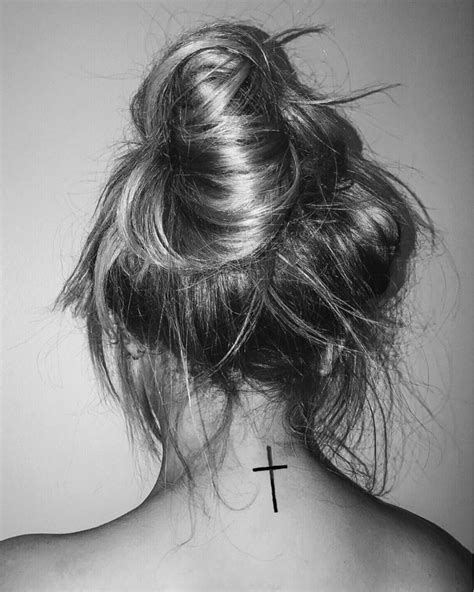 cross tattoos behind neck best 25 cross neck tattoos ideas on cross
