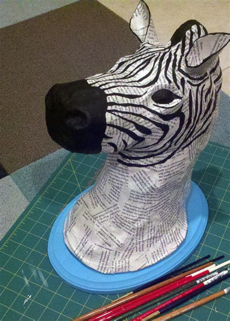 How To Make Paper Mache Animals - diy tutorial paper mache animal heads paper mache and