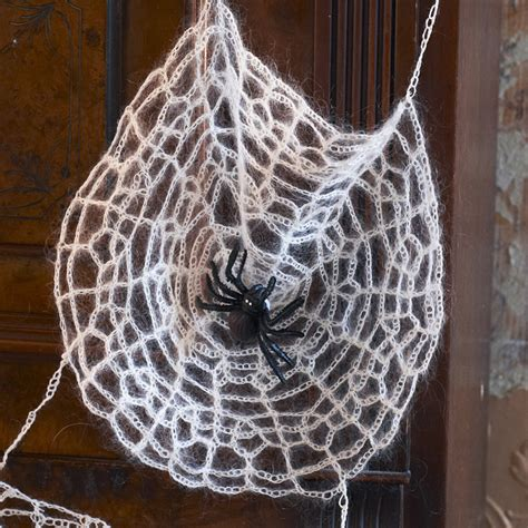 wool pattern webs crochet a faux spider web for halloween canadian living