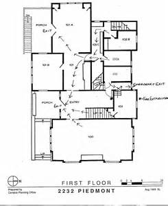 Emergency Floor Plan Department Of Demography Uc Berkeley Health And Safety