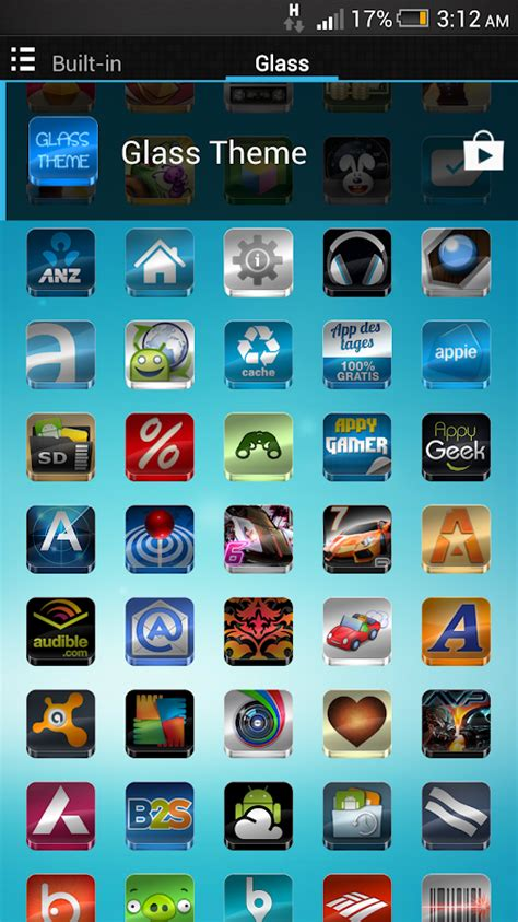 go apex nova project glass icons pack theme android glass icon pack android apps on google play