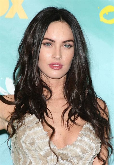 fox women hair celebrity hairstyle megan fox long straight hairstyle