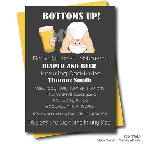 beer and diaper baby shower invitation chalkboard dad