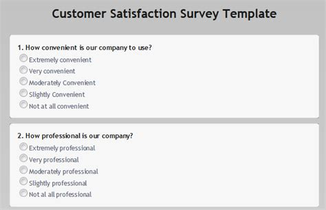 customer satisfaction survey email template customer satisfaction surveys obsurvey obsurvey free