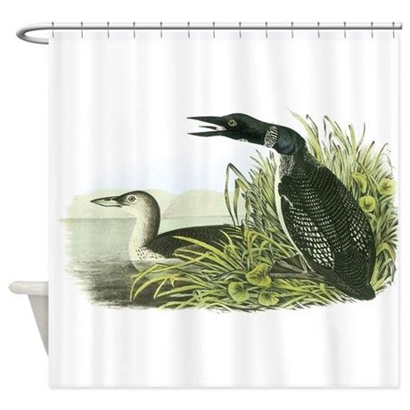 loon shower curtain shower curtains fabric shower curtains bathroom shower