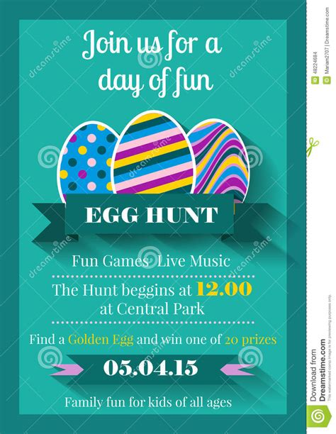 Medicare Card Themed Brochure Templates by Easter Invitation Flyer Stock Vector Image 48224684