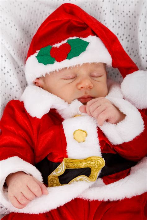 baby santa sleeping free stock photo domain pictures