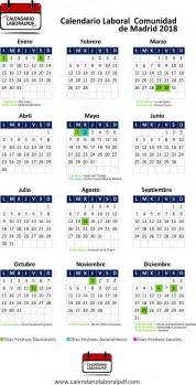 Calendario 2018 Comunidad De Madrid Calendario Laboral De Madrid 2018 161 Desc 225 Rgalo Gratis