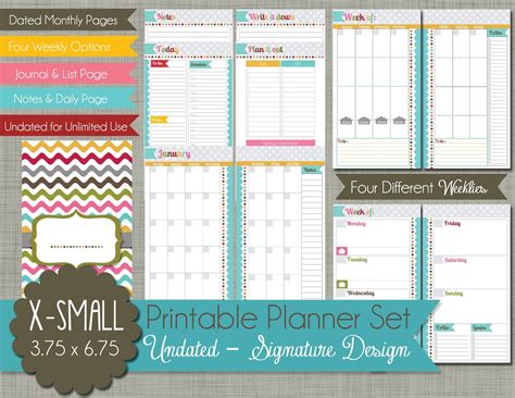 printable planner personal the polka dot posie new x small personal size planner