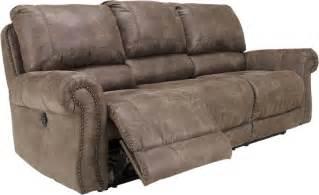 nailhead trim reclining sofa
