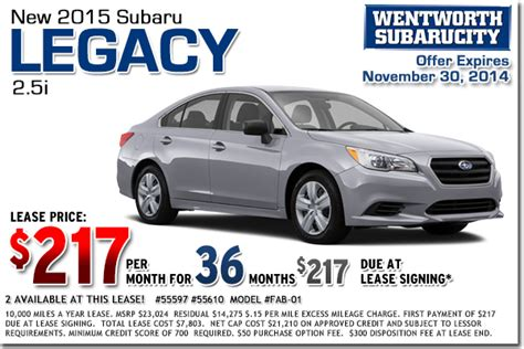 new 2015 subaru lease special offers portland
