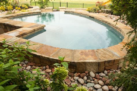 Aquascape Swimming Pools by Breathtaking Swimming Pools Inground Pools In Kansas
