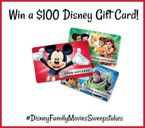 Win Disney Gift Card - bring the magic of disney home for free preview week disney family movies