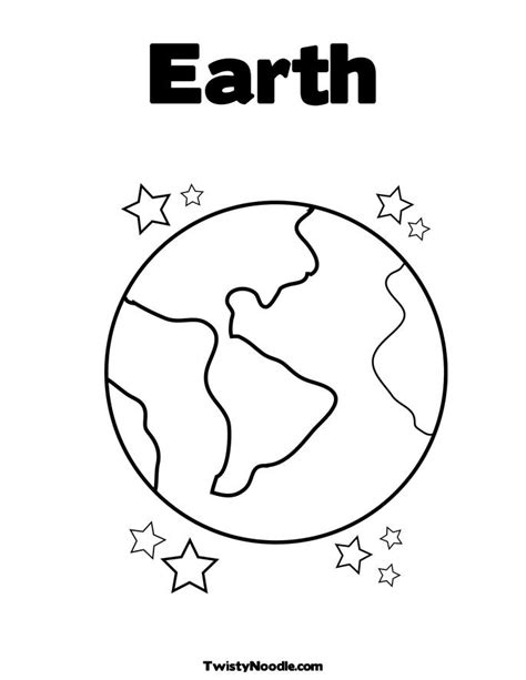 free coloring pages of the planet earth