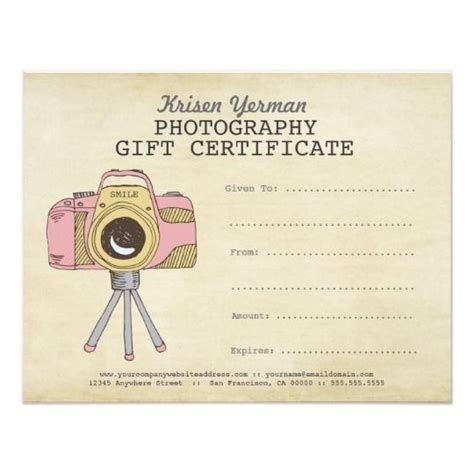 photoshoot gift certificate template photoshoot gift certificate template photographer
