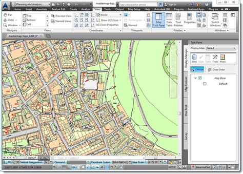 How To Draw Map In Autocad combining mastermap with contours map 3d