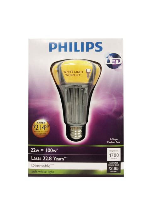 Philips 100 Watt Led Light Bulb Philips 424432 A21 Soft White Led Light Bulb 22w 100 Watt Replacement Dimmable Pppae Avi Depot