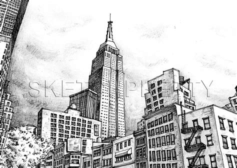 Sketches New York by Another Sketch Of New York City Cool Sketches Pictures