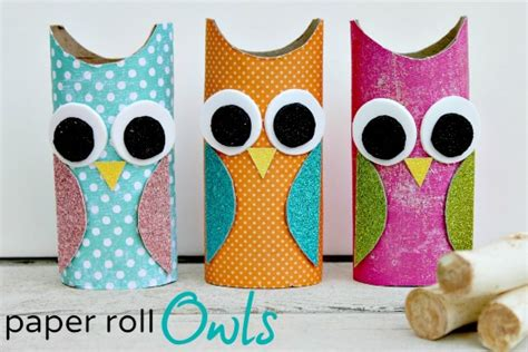 How To Make Owls Out Of Toilet Paper Rolls - owl paper roll craft