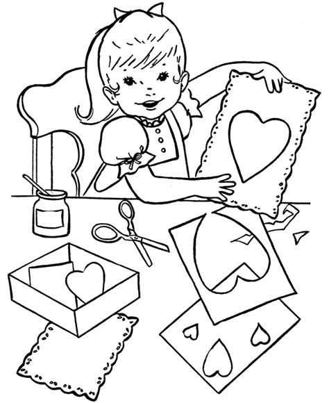 Bluebonkers Free Printable Valentine S Day Kids Coloring Coloring Pages Of Children S Day