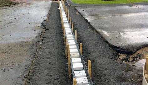 juneau rubber st trench drain archives municipal drainage civil
