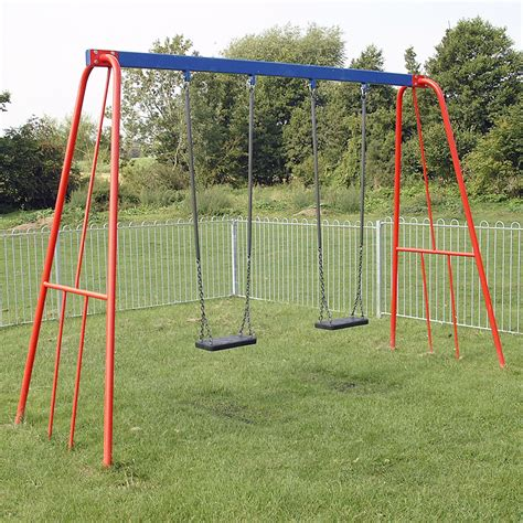 flat swing 2 40m steel double flat swing ray parry playground