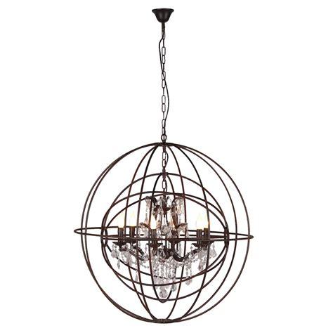 Globe Chandelier Light Rustic Globe Chandelier