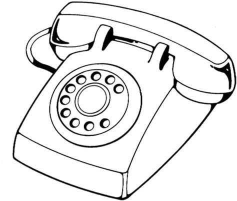 Telephone Coloring Pages telephone device coloring page free printable coloring pages