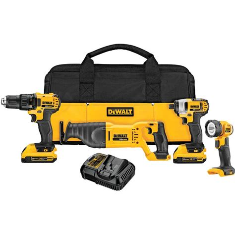 Rona Faucets Kitchen dewalt 20 volt max lithium ion cordless combo kit 4 tool