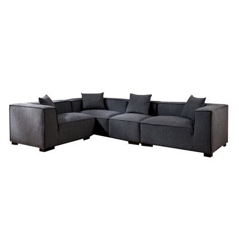 upholstered sectionals furniture of america rankin fabric upholstered sectional