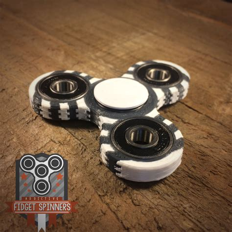 Fidget Spinner edc colored rings tri spinner fidget with caps