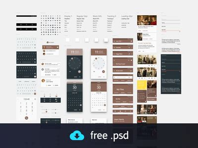 google design ui kit 10 free ui templates for android lollipop and ios 8