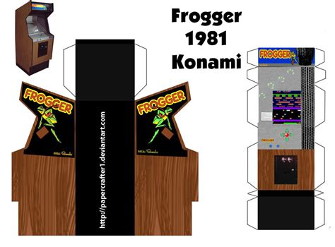 Frogger Paper Arcade Template By Papercrafter1 On Deviantart Cabinet Paper Template