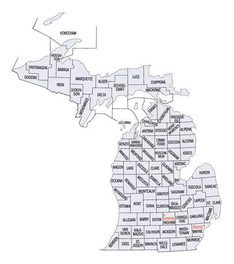 mi county map michigan state maps interactive michigan state road maps
