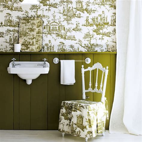 badezimmer tapezieren wallpaper above the dado design ideas decorating with