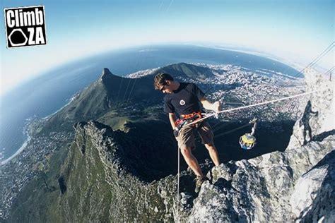 table mountain climbing table mountain rap anchors replaced climb za rock