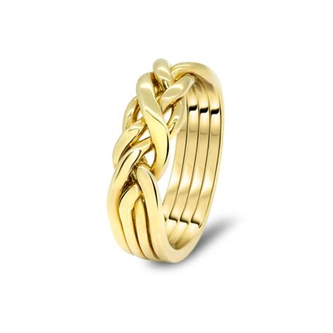mens gold 4cw m puzzle rings creations