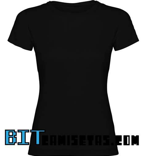 camiseta manga corta negra mujer bitcamisetas - Camisetas De Manga Corta Mujer