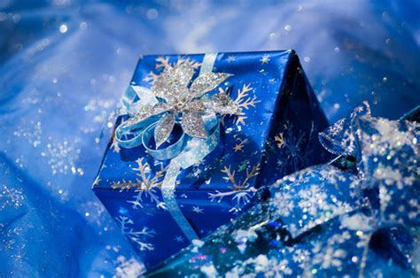 blue wrapped gifts pictures photos and images for