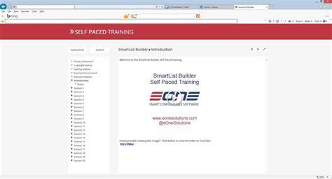 online tutorial builder new smartlist builder training option self paced online