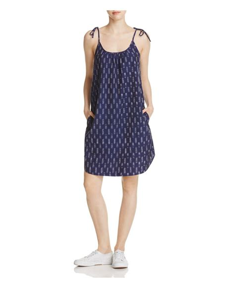 Beachlunchlounge Dress by Lunch Lounge Ikat Shoulder Tie Dress In Blue Lyst