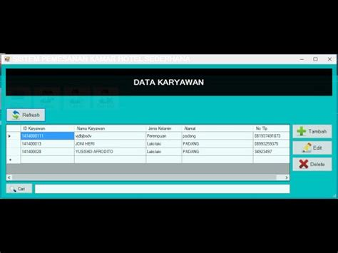 membuat aplikasi vb dengan database mysql part4 membuat aplikasi hotel dengan vb net database