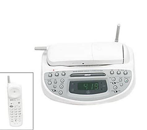 ge mhz cordless phone  dual alarm amfm clock