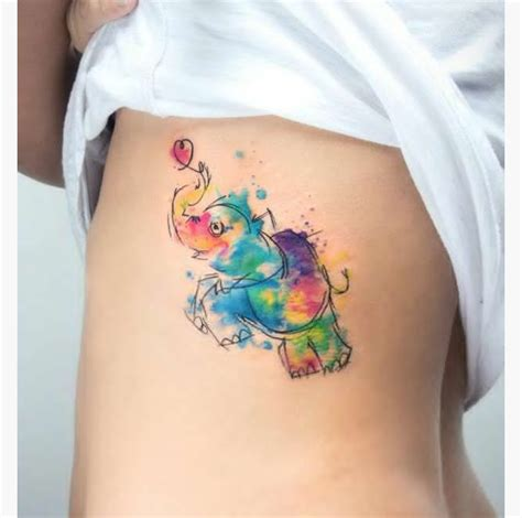rainbow watercolor tattoo 25 watercolor tattoos that an artistry to them