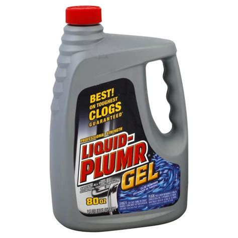 Liquid Plumr Professional Strength Clog Remover Gel, 80 fl oz (2.5 qts) 2.37 lt
