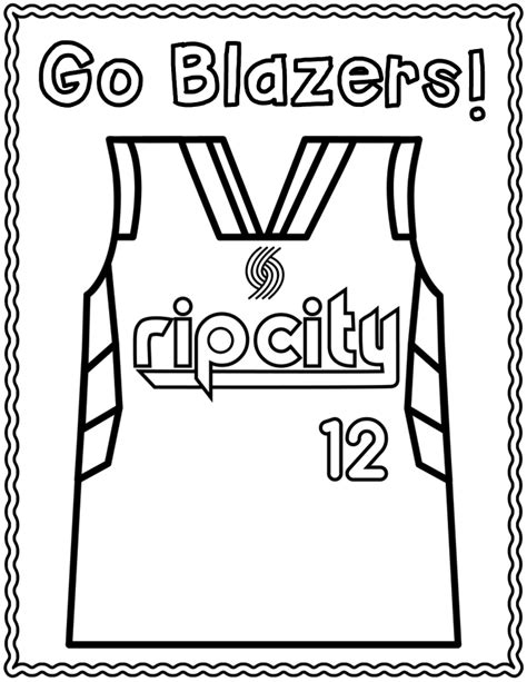nba finals coloring pages nba playoff portland trailblazers coloring page
