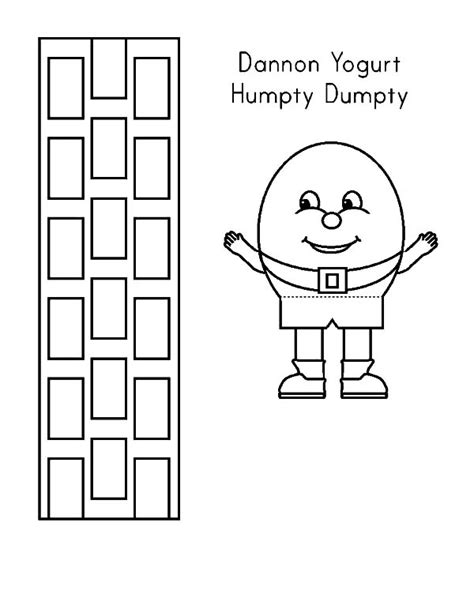 humpty dumpty coloring pages humpty dumpty coloring page